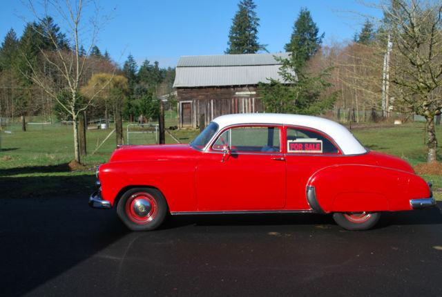 1950 chevrolet 2 door red and white sedan for 1950 chevrolet 2 door