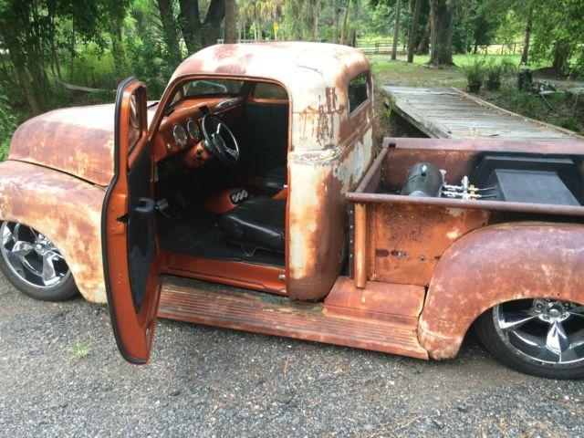 Chevy 4L60E Transmission Sale >> 1950 Chevrolet 3100 pickup truck rat rod patina bagged EFI ...