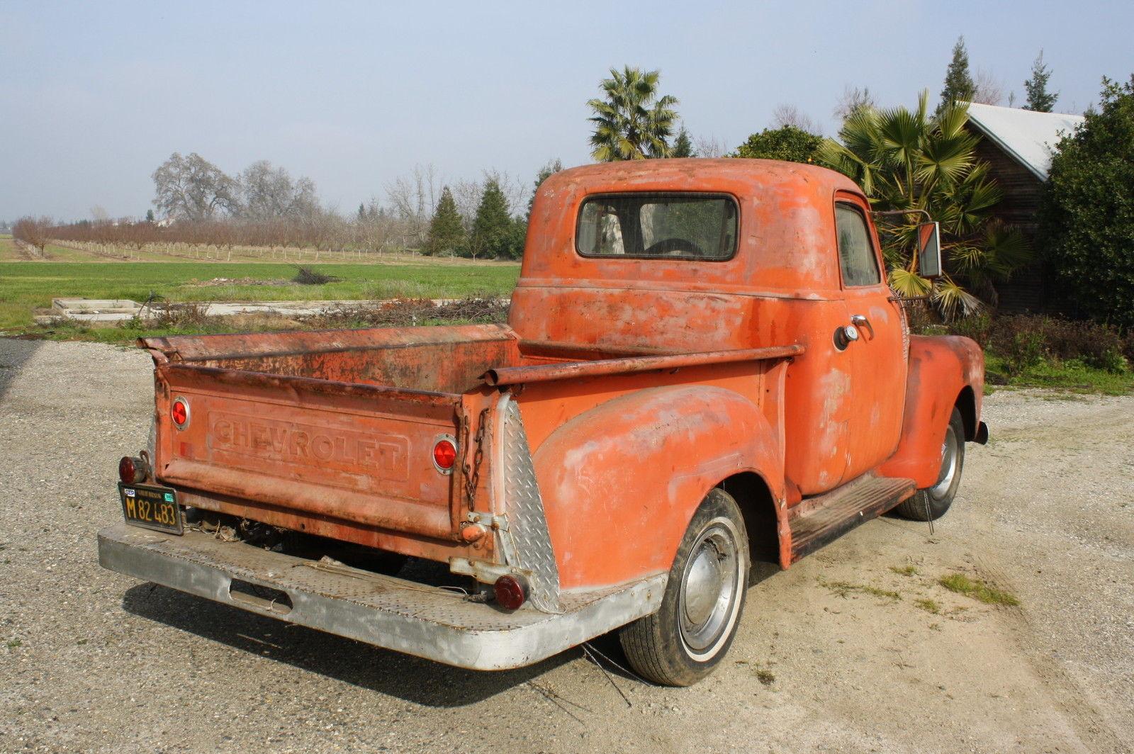 1950 chevrolet pick up original 1949 1951 1952 1953 1954 1955 farm truck for sale in sacramento. Black Bedroom Furniture Sets. Home Design Ideas