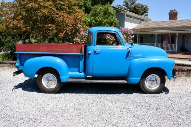 1950 chevrolet pickup 5 window 1 2 ton california truck for 1950 5 window chevy truck