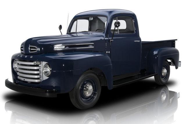 1950 ford f1 pickup truck 64164 miles blue pickup truck. Black Bedroom Furniture Sets. Home Design Ideas