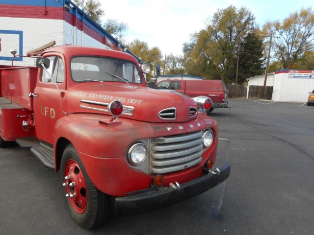 1950 Ford F5 Fire Truck Rare Collectible Truck In Ebay