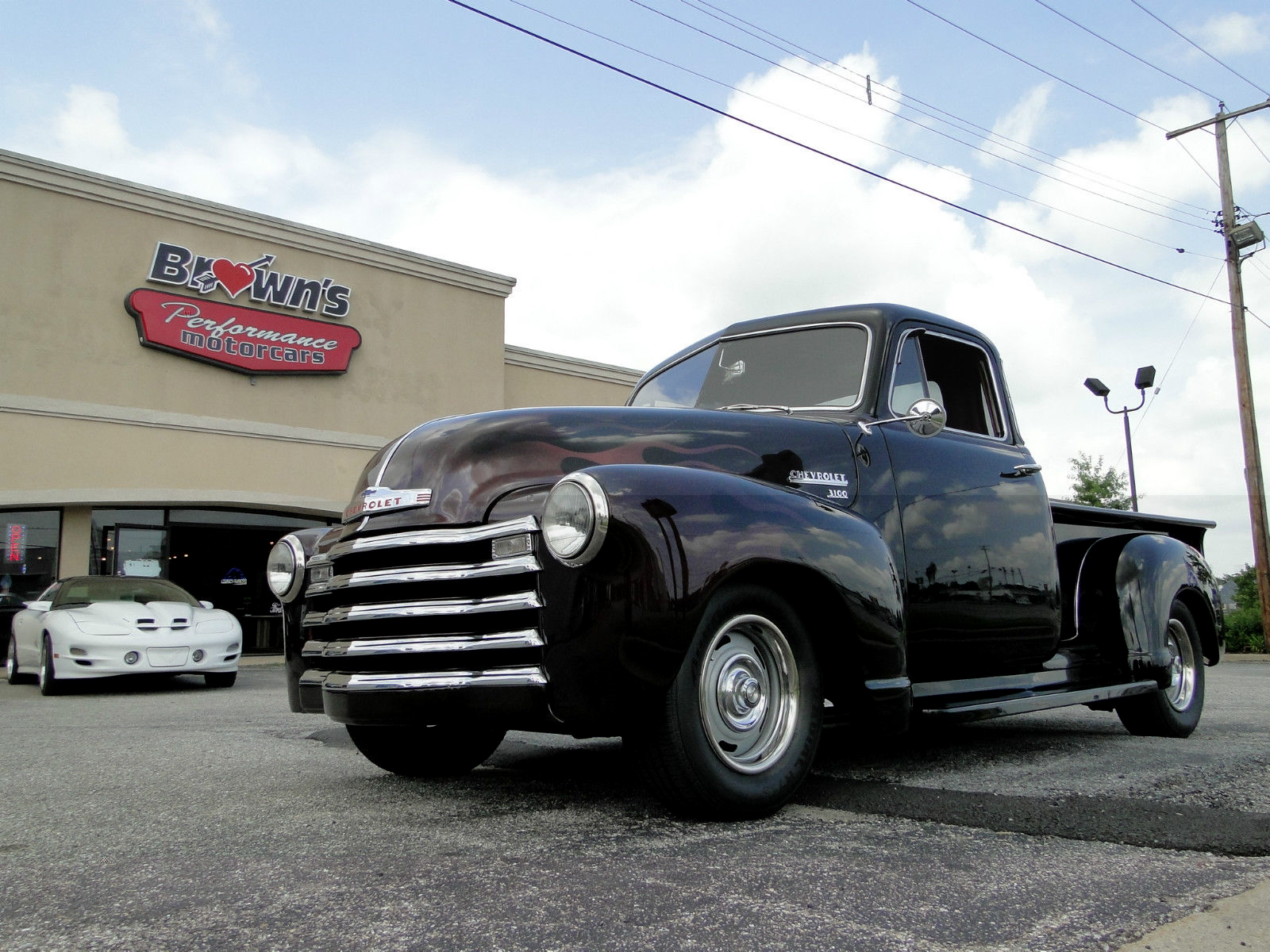 1951 Chevy 5 Window Black Cherry Pickup Truck For Sale In Glen Chevrolet Custom Hot Rod Other Pickups