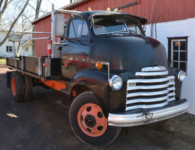 1951 Chevy Cab Over 5700 2 ton Loadmaster Workhorse Flatbed Good