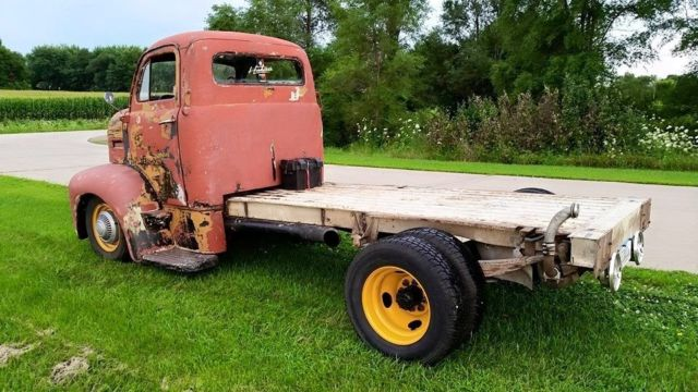 1951 Ford F 6 Cabover Truck Coe Flatbed Dually 1 Ton F6