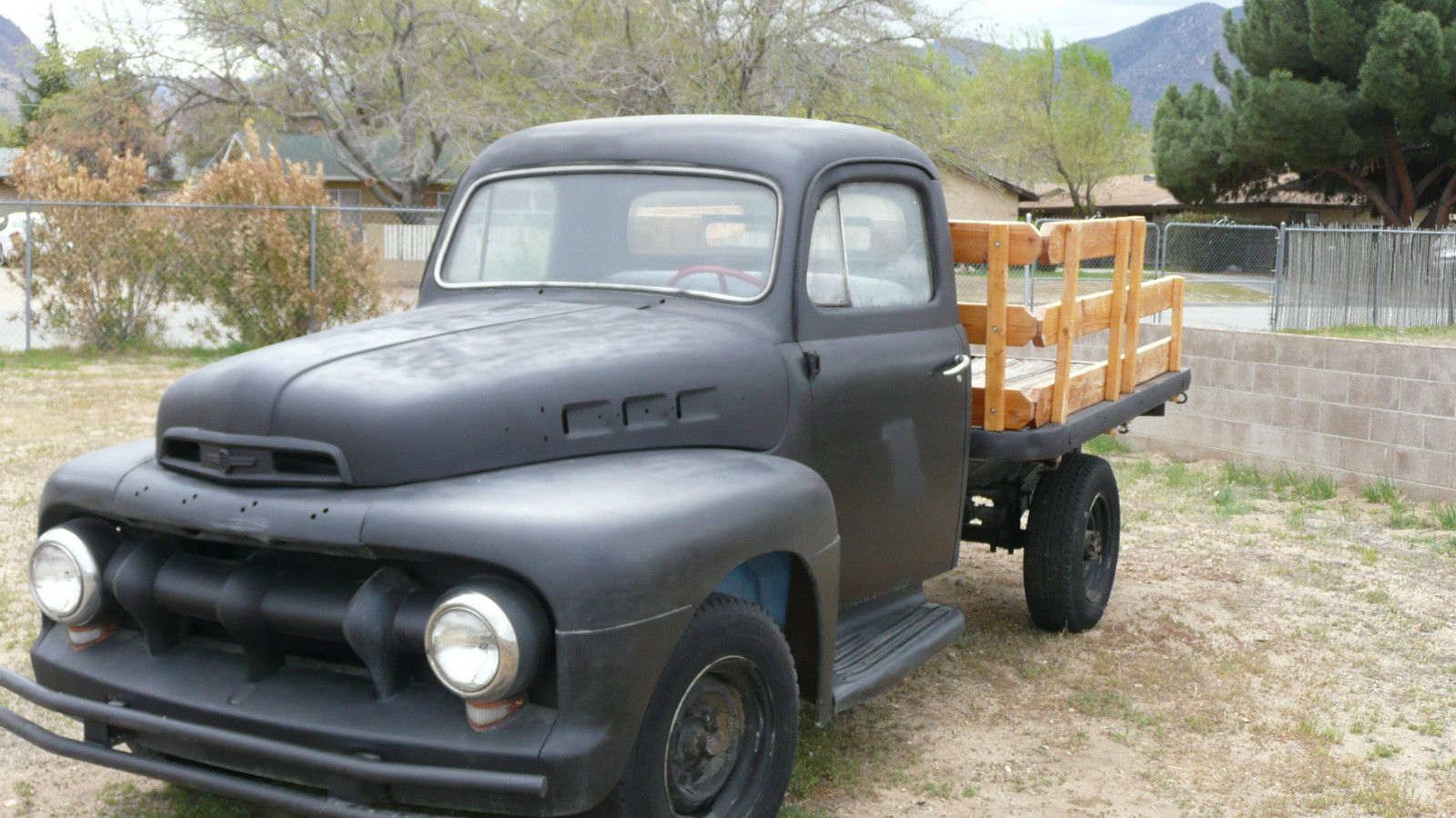 1951 Ford Truck F 3 Flatbed Vintage Classic Ready To Go 52 Pick Up