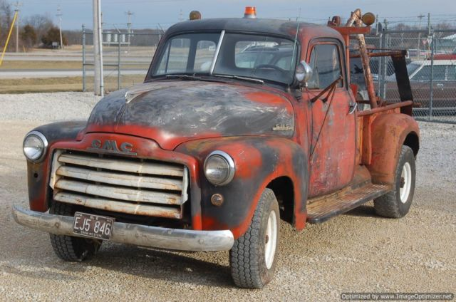 1951 gmc vintage tow truck runs and drives orginal repar shop truck for sale in troy. Black Bedroom Furniture Sets. Home Design Ideas