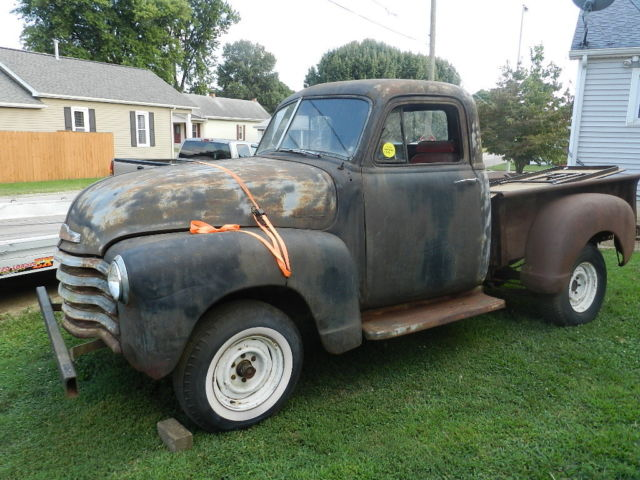 1952 chevy 1 2 ton pickup 47 48 49 50 51 53 54 chevy truck for sale in evansville. Black Bedroom Furniture Sets. Home Design Ideas