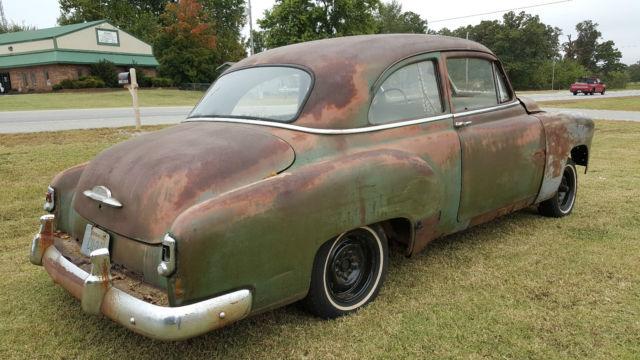 1952 chevy car 2 door sedan deluxe ratrod hot rod patina for 1952 chevy deluxe 2 door