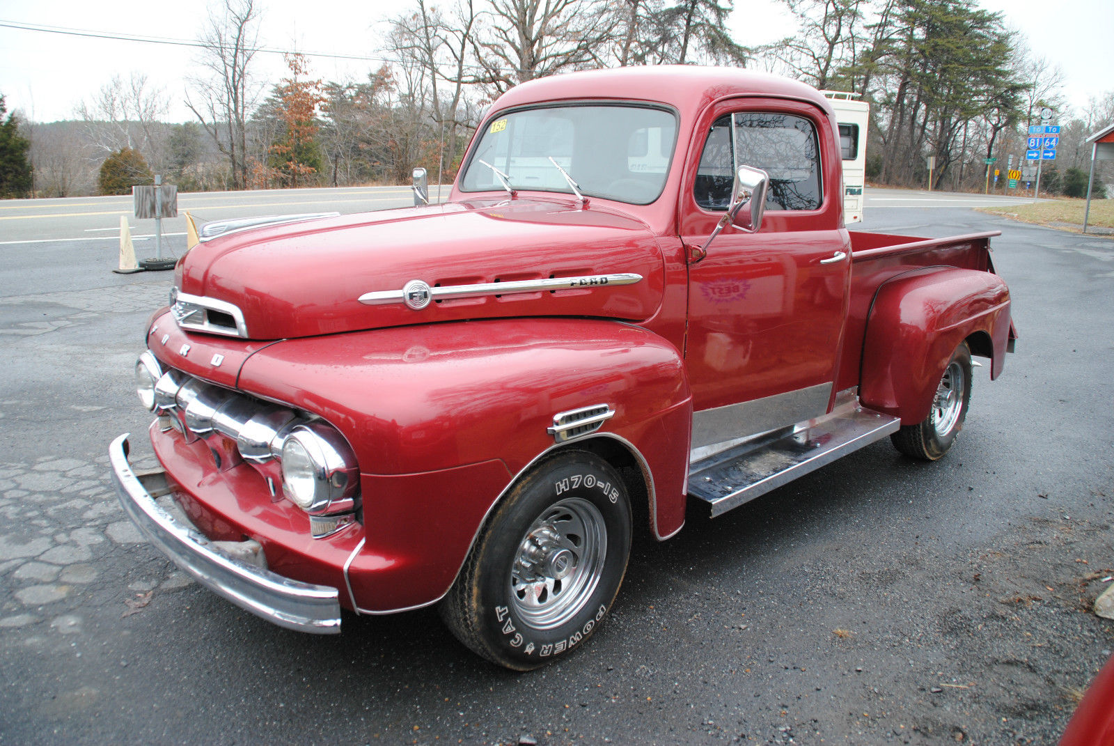 1952 Ford F-1 Pickup - Flathead V-8 - Red - 3 Speed for sale