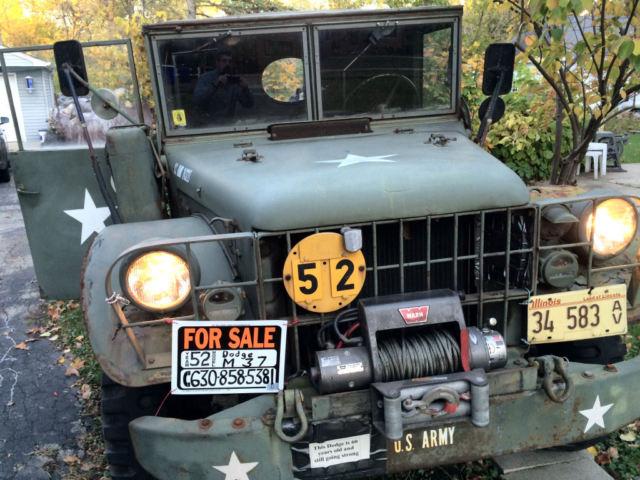 1952 M37 Dodge Power Wagon for sale in Glen Ellyn, Illinois, United