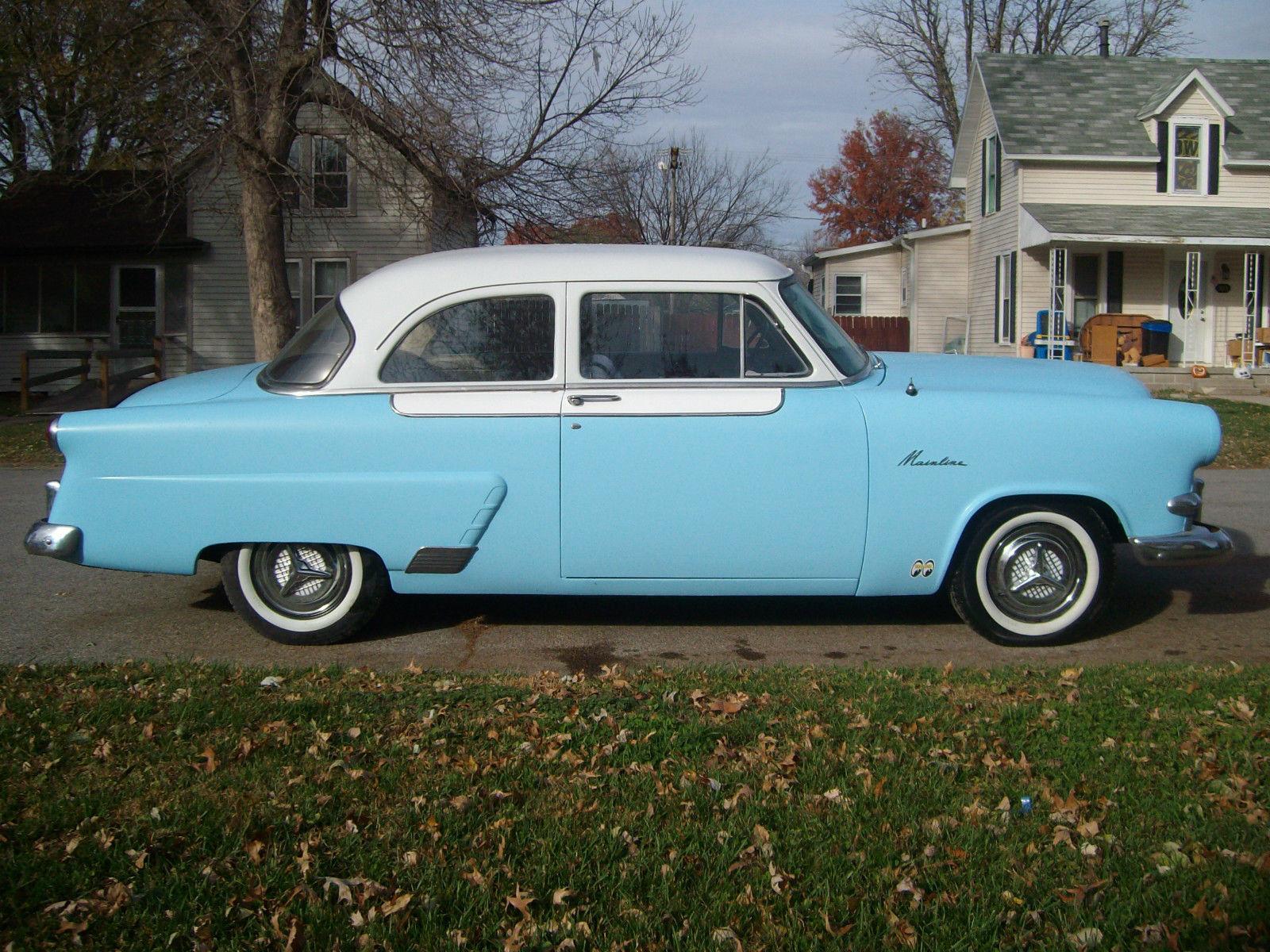 1953 53 Ford Mainline Custom Hot Rod 2 Door Sedan Cruiser