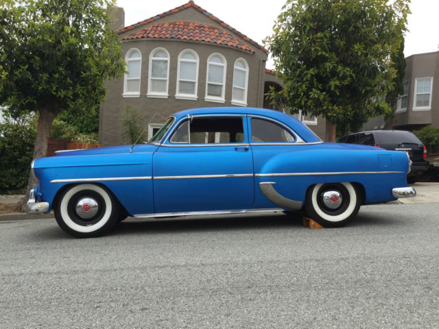 1953 chevy 2 door club coupe hotrod ratrod white walls v8 custom chevrolet 9inch for sale in. Black Bedroom Furniture Sets. Home Design Ideas