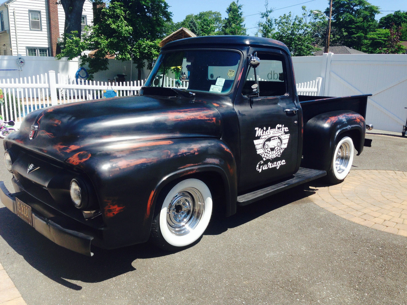 1953 FORD PICKUP F100 RATROD SHOP TRUCK SLAMMED HOT ROD for sale in ...