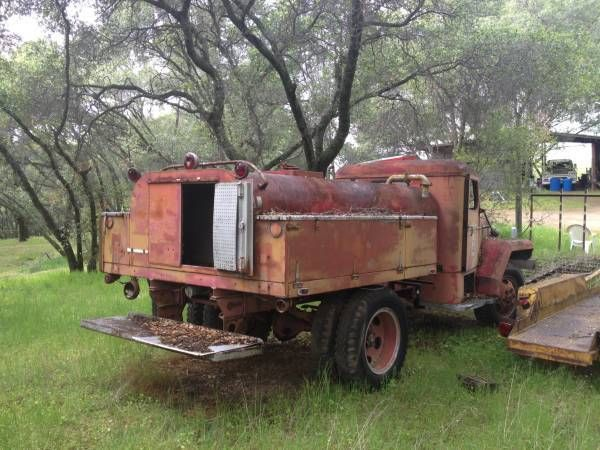 1953 Fwd Fire Truck 4x4 4wd Brush Water Tanker Project