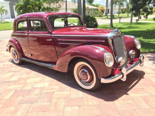 1953 mercedes benz 220 pre war style suicide doors older for 1953 mercedes benz 220 sedan for sale