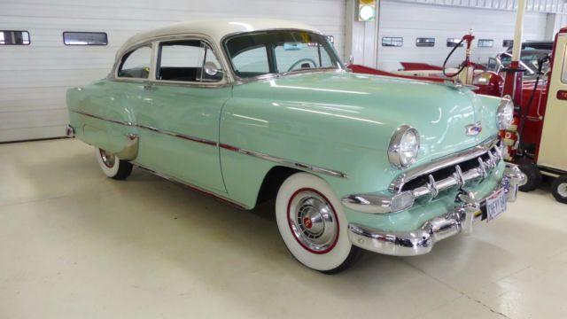 Used Truck Dealerships >> 1954 Chevrolet 210 Deluxe 18298 Miles Surf Green #541 2 Door Sedan 235 Manual 3-