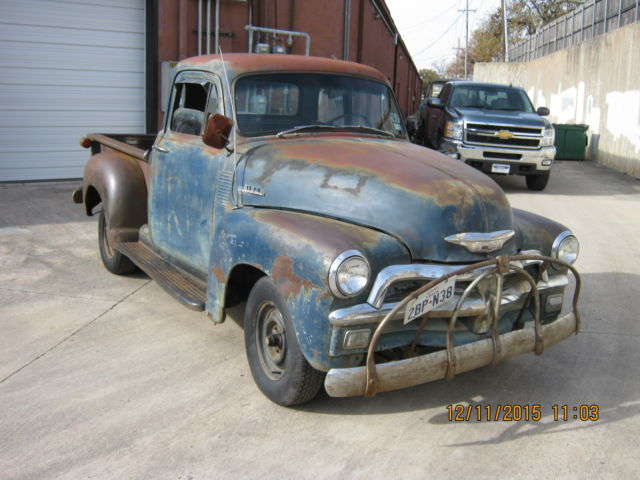 1954 chevy 3100 5 window no reserve shop truck barn find for 1954 chevy truck 5 window