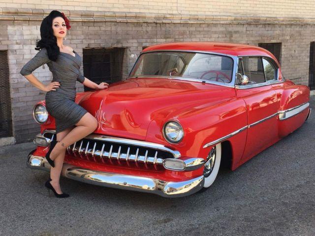 1954 Chevy Bel Air Hardtop Bagged Kustom Whitewall Sled