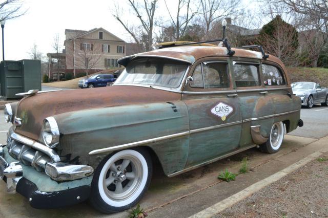 1954 Chevy Wagon Shop Truck Flat Rod Rust Rod Street