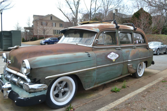 1954 Chevy Wagon Tin Woody Shop Truck Flat Rod Rust