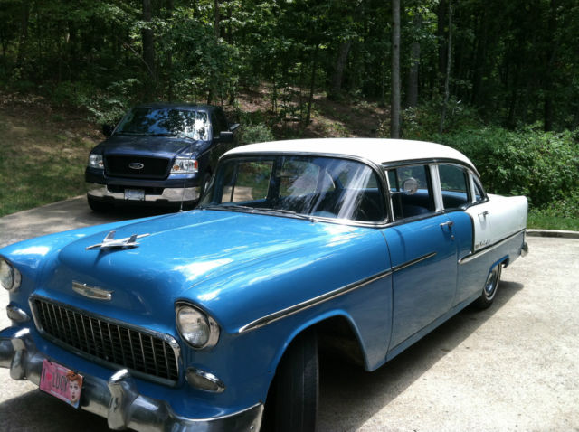 1955 chevrolet bel air base sedan 4 door 3 8l for 1955 chevy 4 door sedan