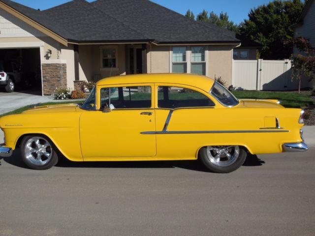 1955 chevy 210 2 door sedan 350 700r4 12 bolt 4 wheel for 1955 chevy 4 door sedan