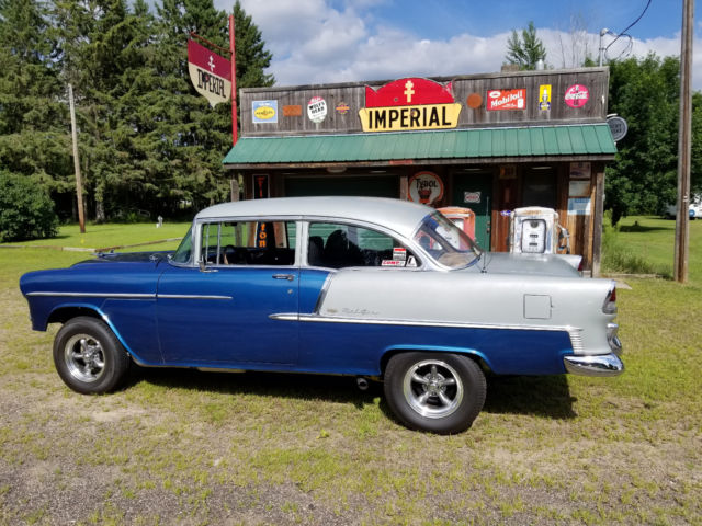 1955 chevy bel air 2 door post relisted due to non paying bidder