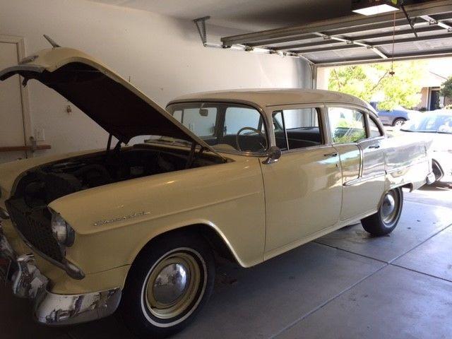 1955 chevy bel air 4 door sedan classic collector car for 1955 chevy 4 door sedan