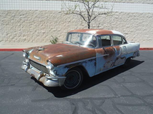 1955 chevy bel air 4 door sedan near complete runs and for 1955 chevy belair 4 door value