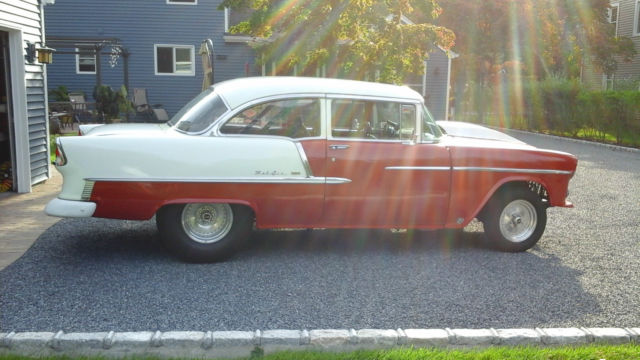 1955 Chevy Belair 2 Door Post Hotrod For Sale In Patchogue