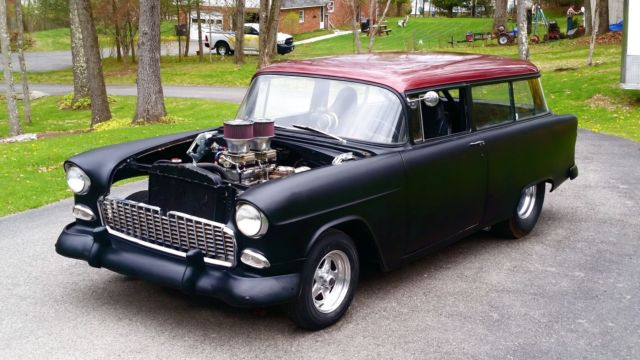 Chevrolet Of Milford >> 1955 Chevy Pro Street handyman 2 door wagon 383, 4 spd, tubbed out bad ass!!! for sale in New ...