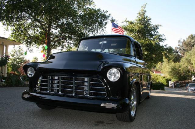 1955 chevy truck black big block big window for sale in for 1955 chevy big window for sale