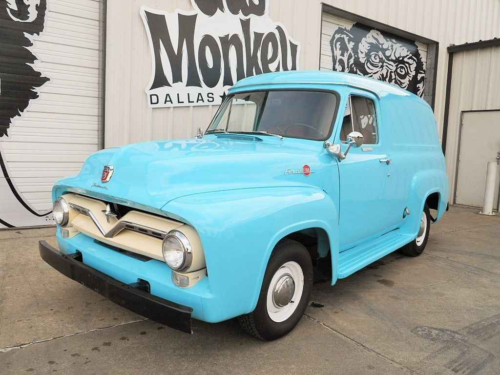 1955 Ford F100 Panel Restored To Original Condition Offered By Gas Side View F 100