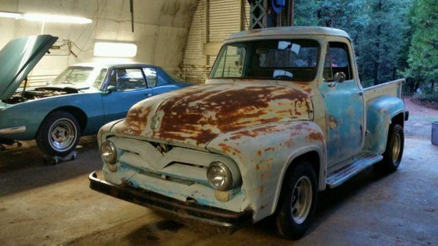 1955 Ford F100 V8 Hot Rod Short Bed Half Ton Stepside Rat