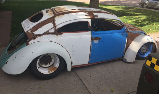 1955 vw bug oval window chop top