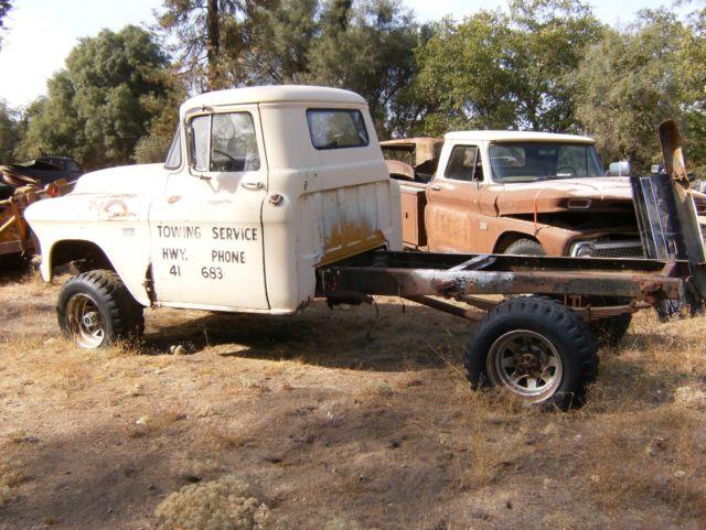 1956 Chevrolet 3800 NAPCO 4X4 4 Speed V8 Pickup Truck, Shop, Flatbed
