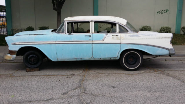 1956 chevrolet belair 4 door sedan true v8 parts project for 1956 chevy 4 door