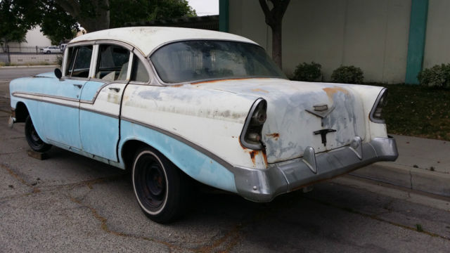 1956 chevrolet belair 4 door sedan true v8 parts project for 1956 chevy belair 4 door for sale