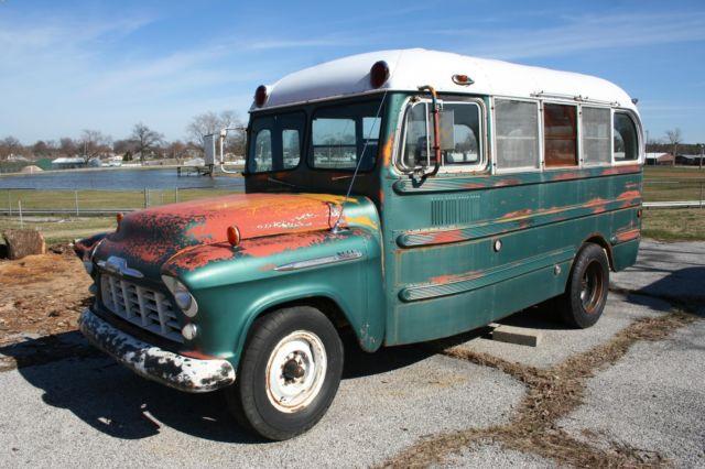 1956 CHEVROLET SCHOOL BUS RAT ROD HOT ROD SHORT BUS for sale