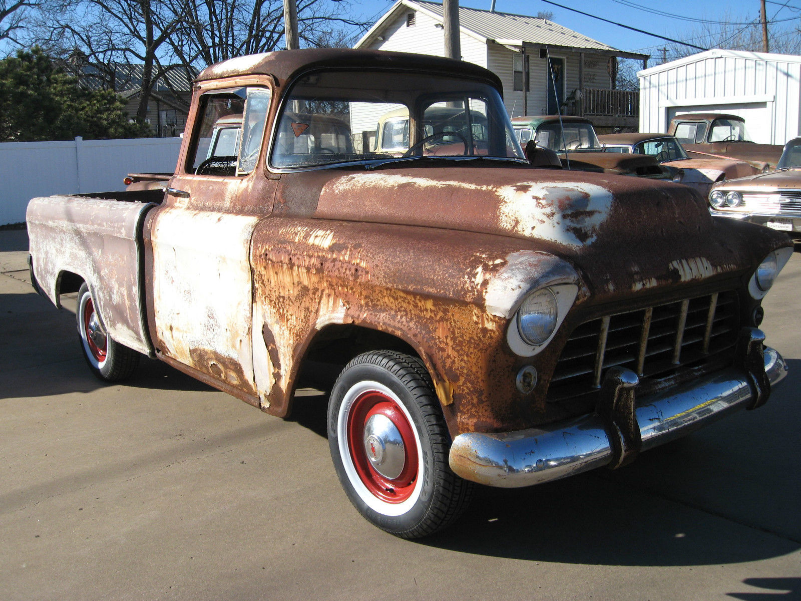 1956 Chevy Cameo Pickup Time Capsule 1 Offering For Sale In 1955 Truck Chevrolet Other Pickups Custom Carrier
