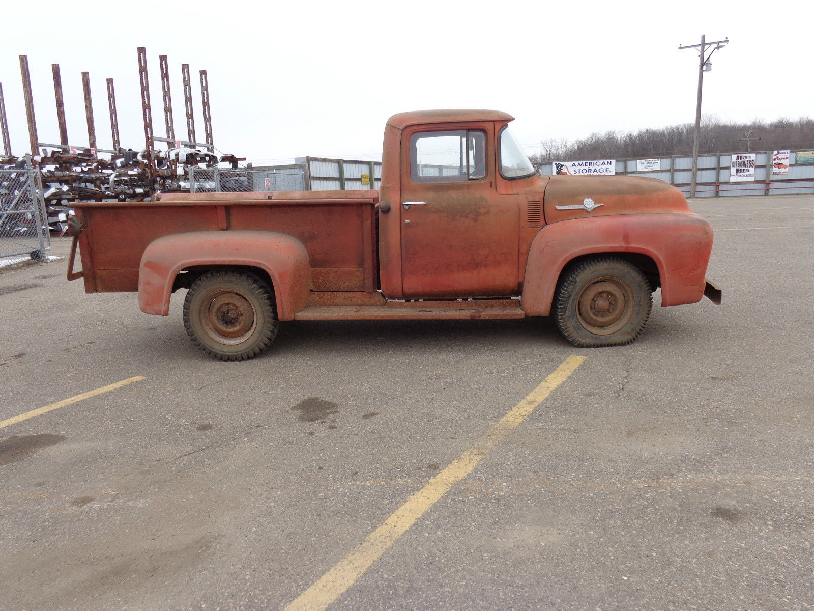 1956 ford f 250 3 4 ton pick up farm fresh barn find patina for sale in annandale minnesota. Black Bedroom Furniture Sets. Home Design Ideas