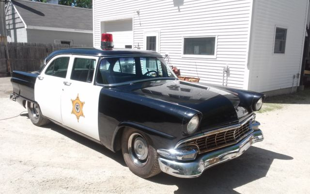 1956 ford fairlane hot rod 4 door police car with 429 c i for 1956 ford 4 door