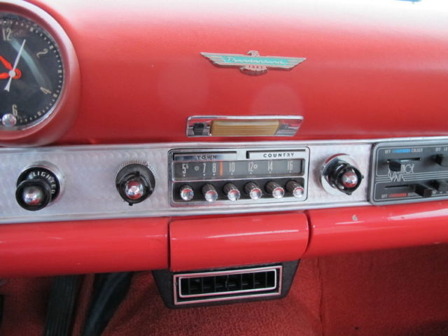 1956 Ford Thunderbird A C Power Brakes 3 Speed Texas