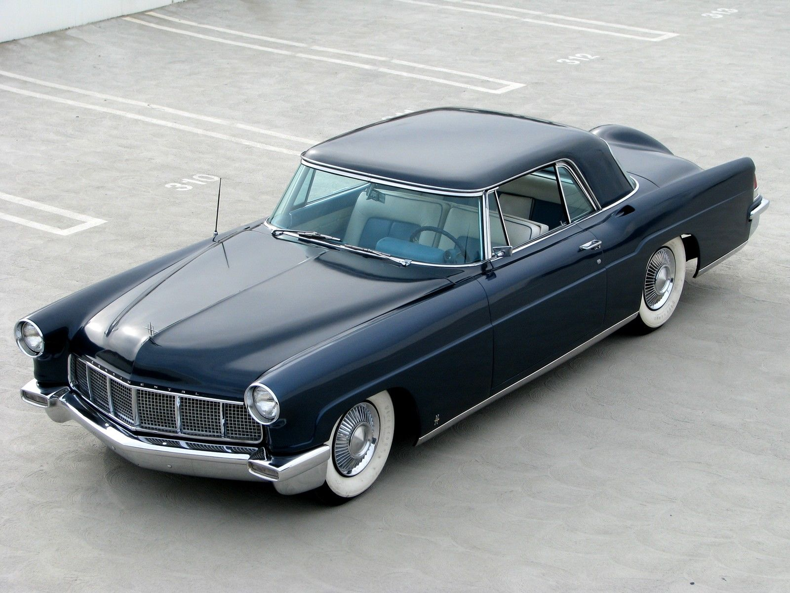 1956 lincoln continental mark ii hardtop with factory air. Black Bedroom Furniture Sets. Home Design Ideas