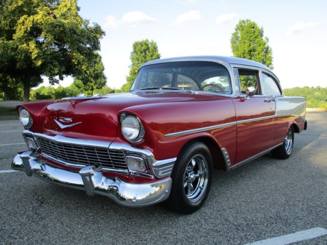 1956 Red Silver 2 Door Chevy 210 For Sale In Pittsburgh