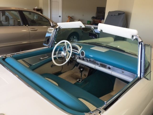 1956ford thunderbird convertible with porthole hardtop. Black Bedroom Furniture Sets. Home Design Ideas