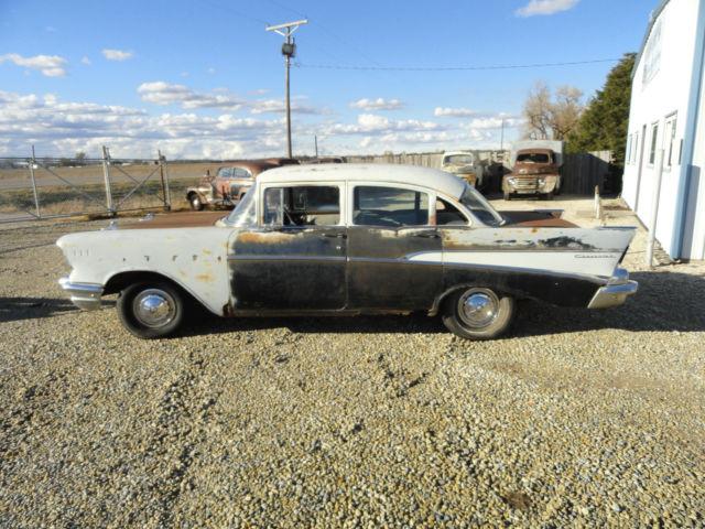 1957 57 chevy 210 4 door sedan project parts rat rod for 1957 chevy 210 4 door