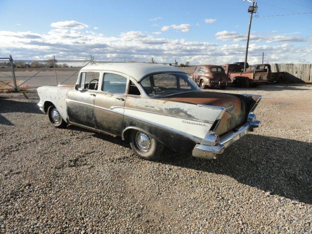 1957 57 chevy 210 4 door sedan project parts rat rod for 1957 chevy 4 door