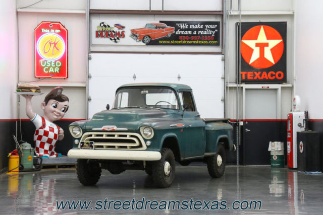 1957 Chevrolet 3100 NAPCO swb 4X4 283 V8 4 speed previously owned by